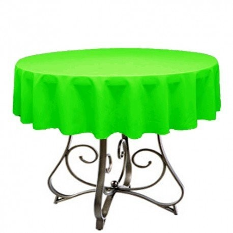 "Round Tablecloth 24"" Polyester  (More 40 Colors Available)"