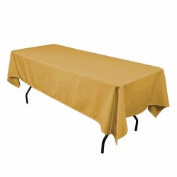 Rectangular Tablecloth 72x90 Polyester Available multiple colors