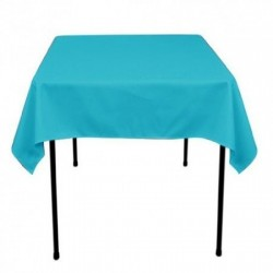 "Square Tablecloth 54""x54""  Polyester. multiple colors available."