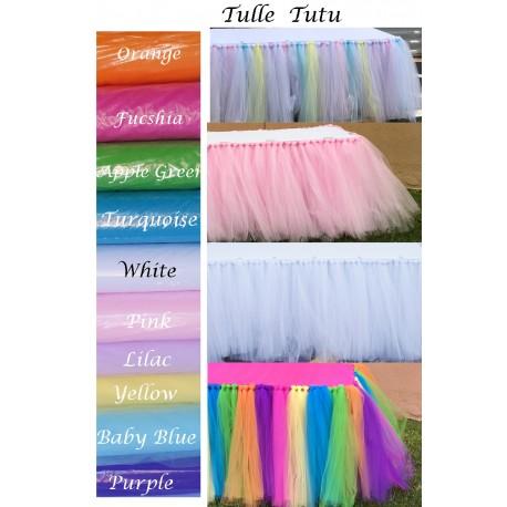 Tutu Tulle Skirt 17 Linear feet. Multiple color Available