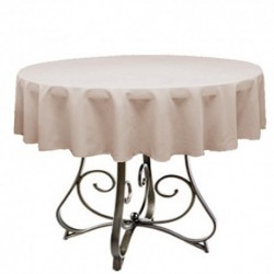 "Round Tablecloth 45"" Polyester  (More 40 Colors Available)"