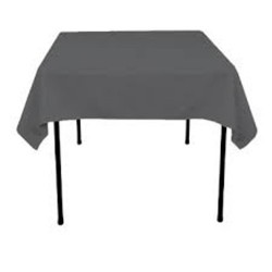 "Square Tablecloth 81""x81""  Polyester. multiple colors available."