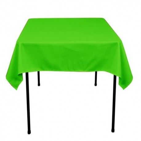 """Square Tablecloth 90""""x90""""  Polyester. multiple colors available."""
