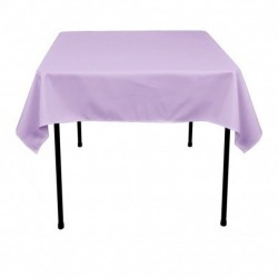 "Square Tablecloth 90""x90""  Polyester. multiple colors available."