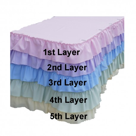 5 layer skirt Polyester 6 Linear feet x 29 inch H