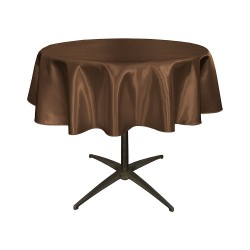"Round Tablecloth 24"" Satin  (More 30 Colors Available)"