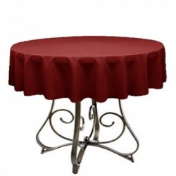 "Round Tablecloth 72"" Polyester  (More 40 Colors Available)"