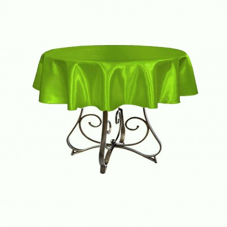 """Round Tablecloth 30"""" Satin  (More 30 Colors Available)"""