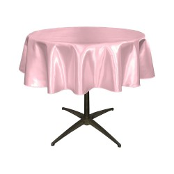 "Round Tablecloth 72"" Satin  (More 30 Colors Available)"