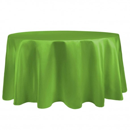 """Round Tablecloth 72"""" Satin  (More 30 Colors Available)"""