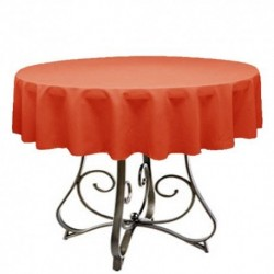 "Round Tablecloth 83"" Polyester  (More 40 Colors Available)"