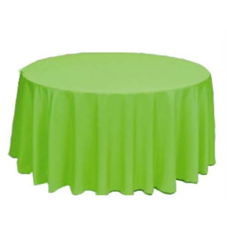 "Round Tablecloth 90"" Polyester  (More 40 Colors Available)"