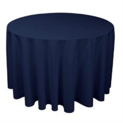"Round Tablecloth 96"" Polyester  (More 40 Colors Available)"